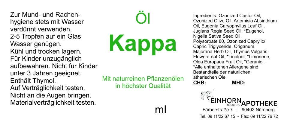 Öl Kappa 20.0g (auf VO Rizol Kappa genannt)