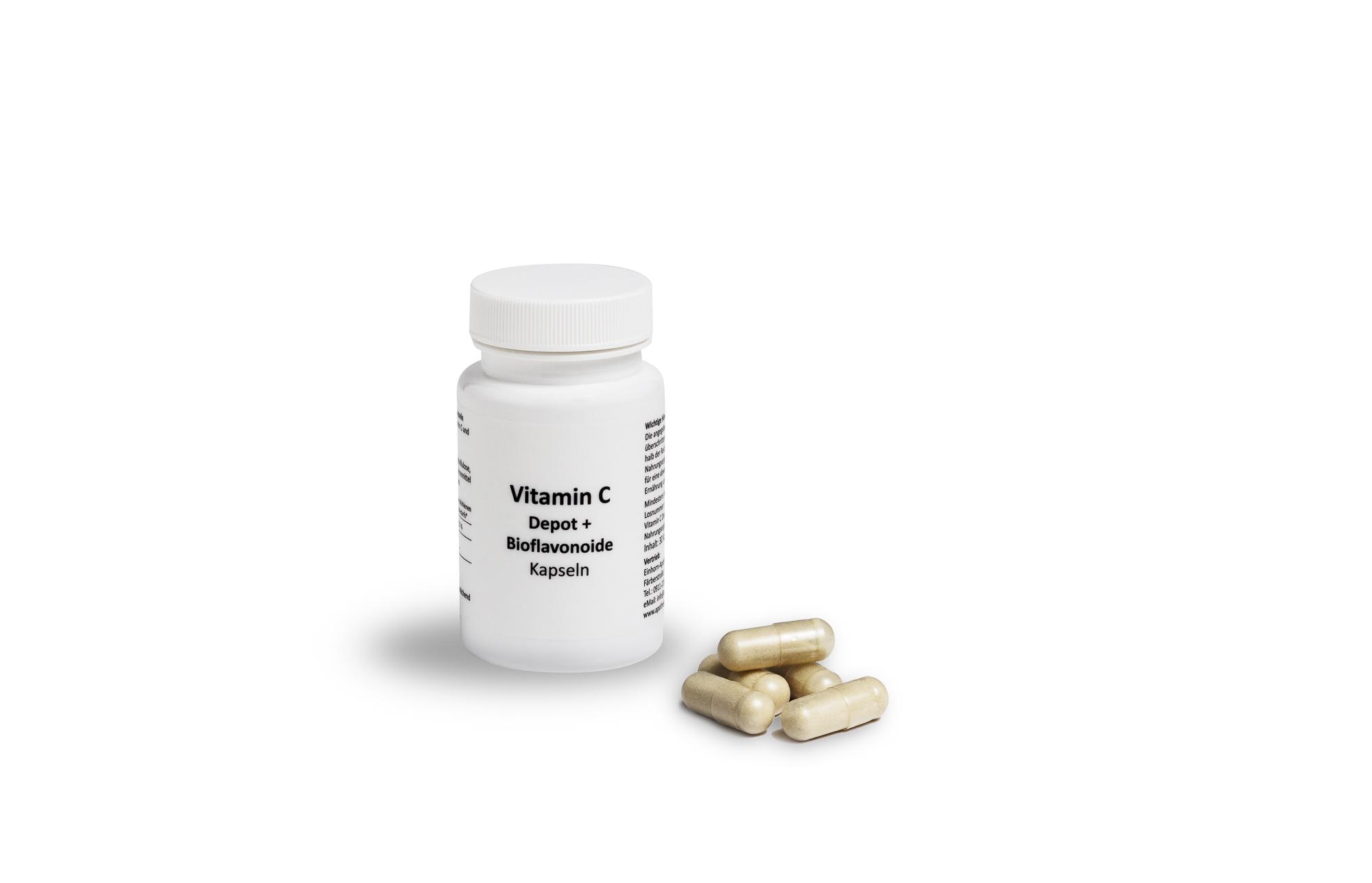 Vitamin C depot + Bioflavonoide Kapseln