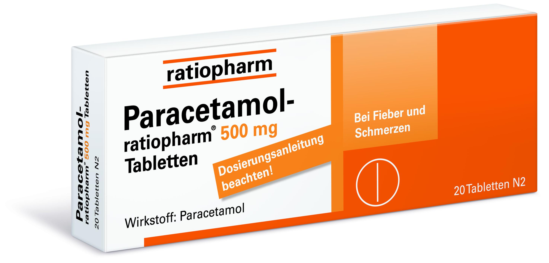 PARACETAMOL ratiopharm 500 mg Tabletten