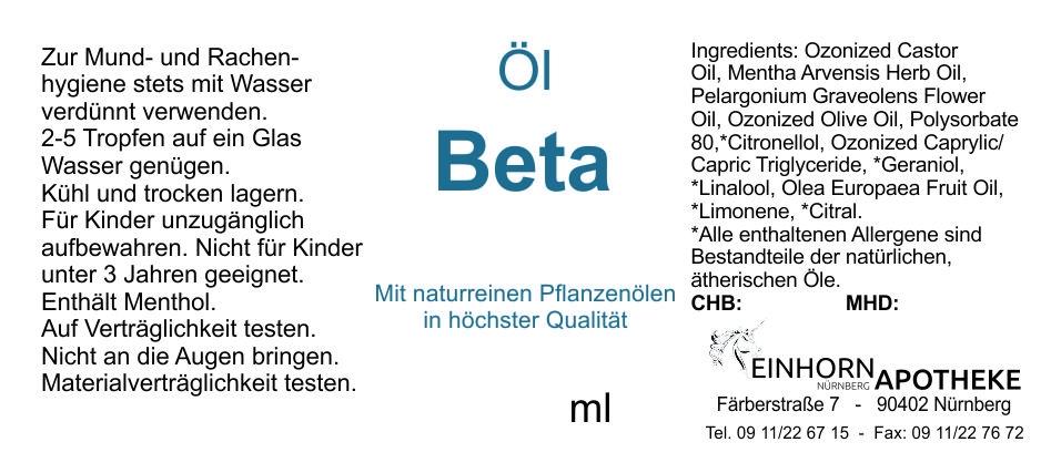 Öl Beta 20.0g (auf VO Rizol Beta genannt)