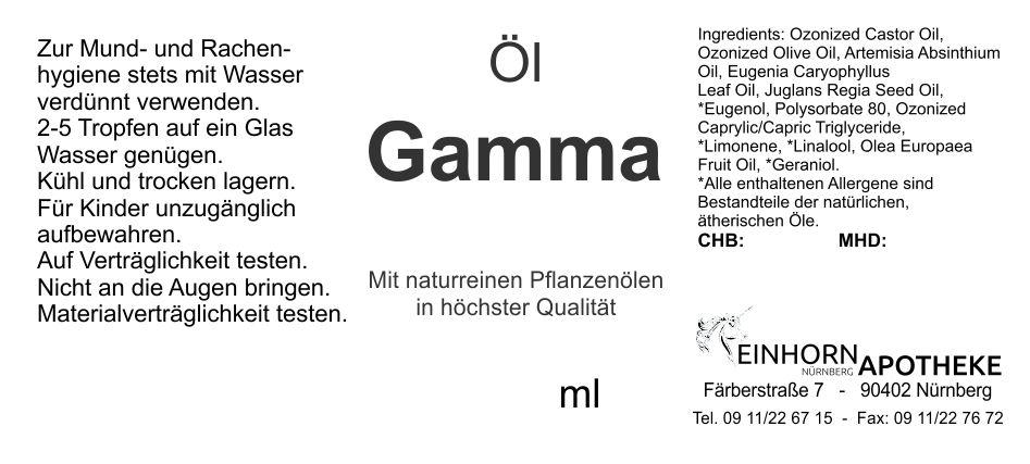 Öl Gamma 20.0g (auf VO Rizol Gamma genannt)