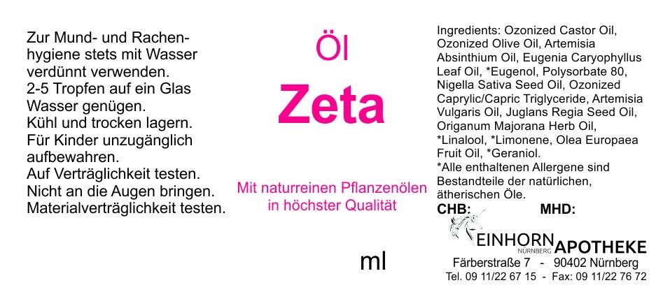 Öl Zeta 20.0g (auf VO Rizol Zeta genannt)